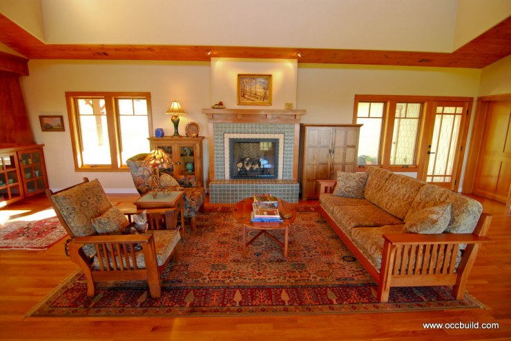 Everett craftsman living room 11 thomas odenwald design for Craftsman style living room ideas